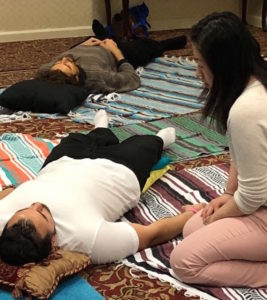 Group breathwork session